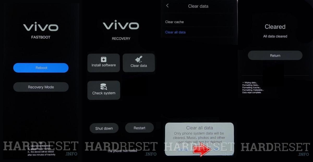 Cara Hard Reset Vivo Y71 Melalui Recovery