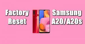 Cara Reset Hp Samsung A20s