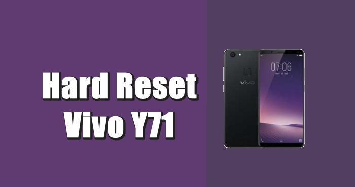 Cara Reset Hp Vivo Y71