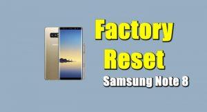 Cara Reset Samsung Galaxy Note 8