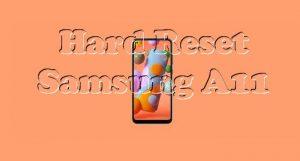 Cara Reset Hp Samsung A11
