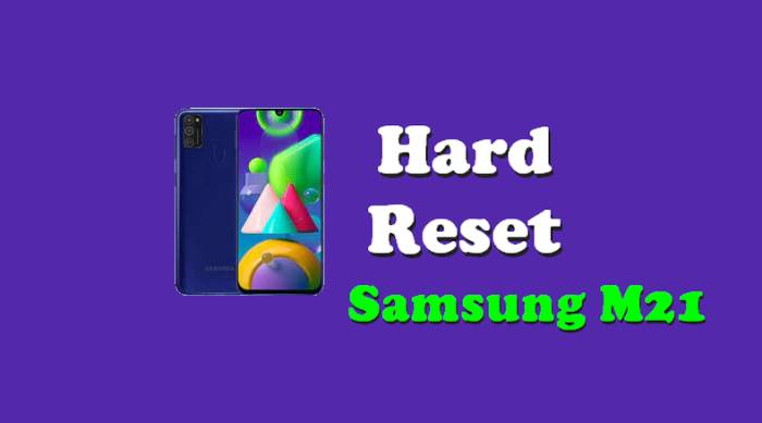 Cara Reset Hp Samsung Galaxy M21