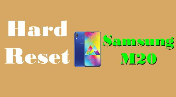 Cara Reset Hp Samsung M20