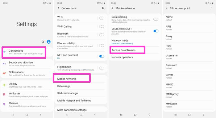 Cara Setting APN Indosat Hp Samsung