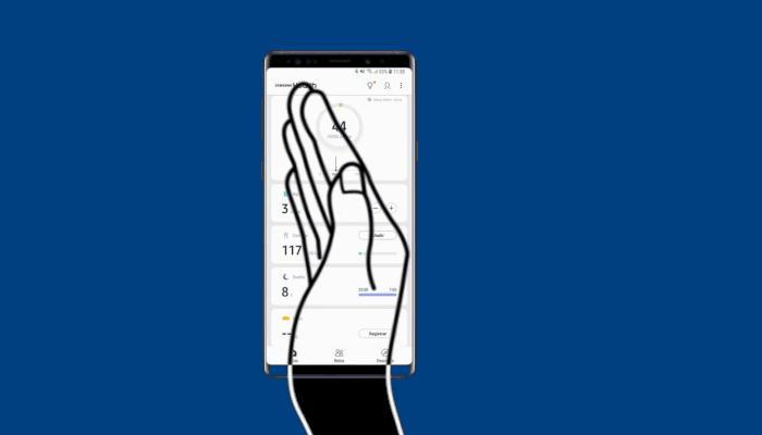 Cara Screenshot Samsung A10s Palm Swipe